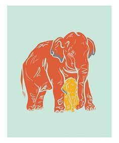 Love this Asian Elephant III Print on #zulily! #zulilyfinds