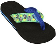 Womens Tidewater Boardwalk Flip Flop Sandals8 BM USBlueGreenYellow * Find out more about the great product at the image link.