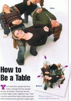 how to be a table! now all i need are some friends...