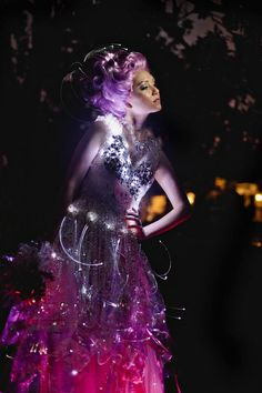 Fiber Optic Light Up Wedding Dress by Evey  www.eveyclothing.com