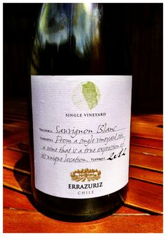 2012 Errazuriz Single vineyard Sauvignon Blanc, Casablanca Valley, Chile   This solid table white is great value. #wine