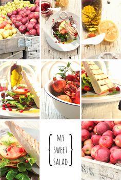 My sweet salad ! Greek Recipes, My Recipes, Salads, Mexican, Drink, Ethnic Recipes, Sweet, Food, Greek Food Recipes
