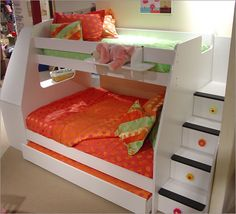 if $$ grew on trees... Berg Furniture Enterprise Twin Over Full Bunk Bed with Stairs and Optional Desk