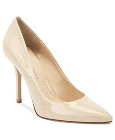 Enzo Angiolini Shoes, Persist Pumps in Nude Patent, on sale for $40 via Macy's