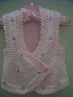Knitted Boys and Girls Baby Sweater, Vest Cardigan Patterns Knitted Boys and Girls Baby Sweater, Vest Cardigan Patterns Welcome to the knitting vest models gallery. We have created beautiful male baby vest m. Knitting For Kids, Baby Knitting Patterns, Crochet For Kids, Baby Patterns, Hand Knitting, Gilet Crochet, Knit Crochet, Knitted Baby, Knit Baby Dress