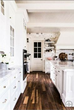 Pretty flooring in kitchen
