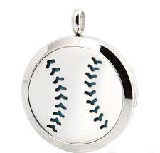 Softball ~ Baseball Stainless Steel Diffuser Locket