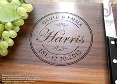 Hey, I found this really awesome Etsy listing at https://www.etsy.com/ca/listing/225797970/personalized-cutting-board-engrave