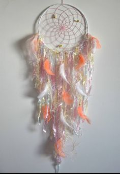 Large Dream Catcher Bedroom Wall Decor Pastel Pink Nursery
