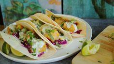 californiai fish taco #cod #beer #jalapenosauce #avocado #tortilla