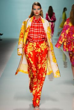 This is what I call a daring and perfect mix of prints. (Emanuel Ungaro)