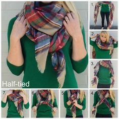 Emerald green and plaid.