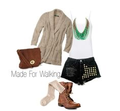 Summer outfit ideas: black studded shorts, knee high socks and combat boots