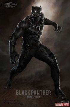 Marvel Entertainment Also, we released this incredible piece of Black Panther concept art by Ryan Meinerding. Black Panther will appear in Marvel's Captain America: Civil War in 2016 before launching into his own 2017 movie! More info here! Marvel Comics, Films Marvel, Marvel Vs, Marvel Heroes, Poster Marvel, Black Panther Marvel, Black Panther Poster, Black Panther 2018, Captain America