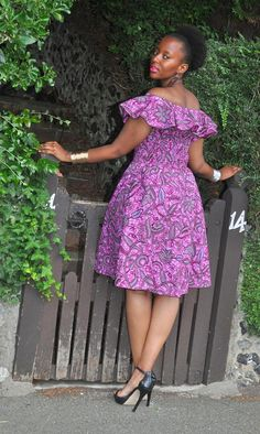BALMA purple dress in a bold floral print