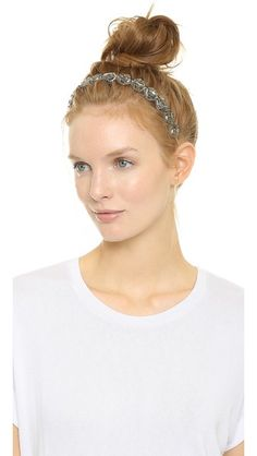 This weekend is going to be a hot one. Update a cool hair style, like this topknot, with a #DeepaGurnani headband.