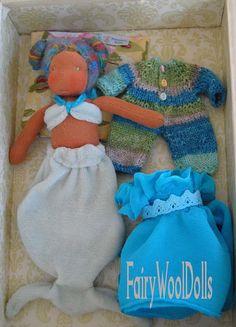 Mini Fairywooldolls Original waldorf cloth doll