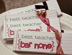 Teacher Appreciation crafts!