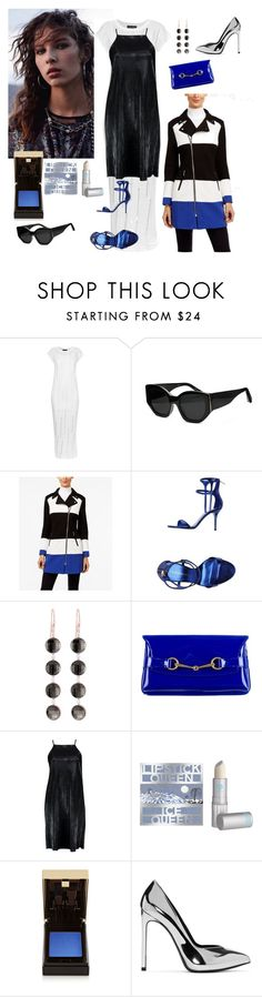 """""""Silver"""" by denibrad ❤ liked on Polyvore featuring Tabula Rasa, Elizabeth and James, INC International Concepts, Tamara Mellon, Roberto Coin, Gucci, Boohoo, Lipstick Queen and Yves Saint Laurent"""