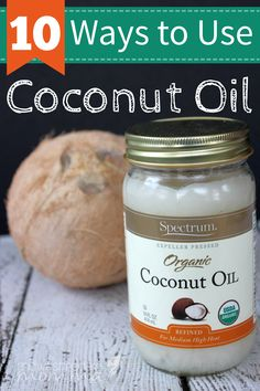 10 Ways to Use Coconut Oil | Coconut is an amazing food, but coconut oil is even more versatile! Use it for cooking, your beauty routine, dental health, and so much more! It's natural, available at most grocery stores, and inexpensive - Click for more ways to use coconut oil!