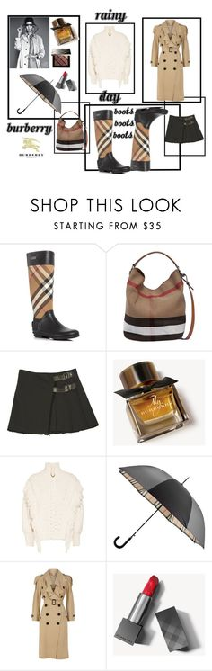 """It's raining Burberry"" by krista-zou on Polyvore featuring Burberry"