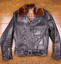 Beck Northeaster 1940s Horsehide Jacket A great example of classic motorcycle Americana.