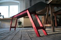 Snowboard bench #Bench, #Repurposed, #Snowboard