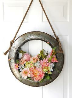 Spring is finally here even if there is snow on the ground : ) and what better way to celebrate the beauty of this gorgeous Season…but with some Fresh and Fabulous Spring Wreath DIY Projects!  Each one of the wreaths featured in this brand new collection would look incredible on your front door…side door…over the …