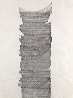 study, 0.3 mm pen on packing paper, 97 x 42 cm