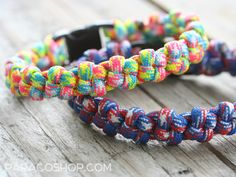 Crown Knot Bracelets — one of our unique, stylish weaves. These colorful bracelets are made with 550 paracord. #paracord #bracelet #unique