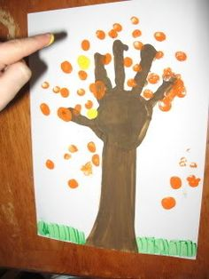 hand print fall tree....leaves are finger/thumb prints