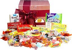 Buy one of Candy Crate's fantastic old fashioned candy gift baskets. These tasty nostalgic candy gift baskets feature favorite treats from decades past. Candy Gift Baskets, Candy Gift Box, Candy Gifts, Gourmet Candy, Gourmet Gifts, Food Gifts, Men Gifts, Old Fashioned Sweets, Old Fashioned Candy