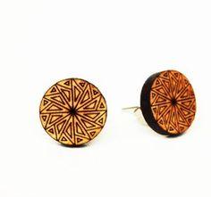 Mesmerizing Mandala stud earrings from ellamademe and available to buy!