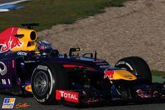 Sebastian Vettel, Red Bull, Formule 1-test in Jerez de la Frontera,  7 februari 2013, Formule 1