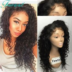 Brazilian Full Lace Human Hair Wigs With Baby Hair Curly Front Lace Wigs Glueless Lace Front Human Hair Wigs For Black Women