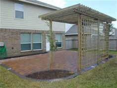 Patio Ideas On A Budget - Bing Images...Want square patio with rounded off corners like this for flowers.