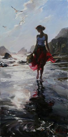 Morning Reflection a Garmash Original Painting available from J Watson Fine Art 661 your source for beautiful Michael and Inessa Garmash original paintings and limited edition artwork. Art Amour, Illustration Art, Illustrations, Wow Art, Fine Art, Beautiful Paintings, Painting Inspiration, Female Art, Painting & Drawing