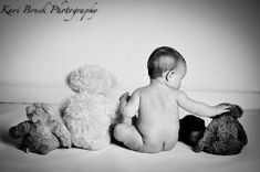 6 (six) Month old baby studio photo shoot session. Teddy bear picture inspiration. Children, Kids, Baby, Babies, Photographer (picture Ideas). by ebony