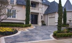 Photo Gallery - Concrete Driveways - Dripping Springs, TX - The Concrete Network Driveway Design, Driveway Landscaping, Driveway Ideas, Patio Ideas, Yard Ideas, Landscaping Ideas, Concrete Color, Concrete Design, Driveway Materials
