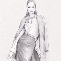 Fashion Model Sketch, Fashion Design Sketchbook, Fashion Design Drawings, Fashion Sketches, Fashion Art, Fashion Models, Fashion Drawing Tutorial, Beauty Illustration, Dress Drawing