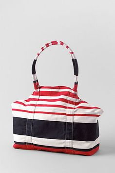 Womens Stripe Capri Tote from Lands End