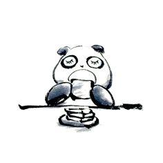 【一日一大熊猫】2015.11.29 食パンが好き。 何もつけずにトーストして食べるのが好き。 #パンダ #食パン