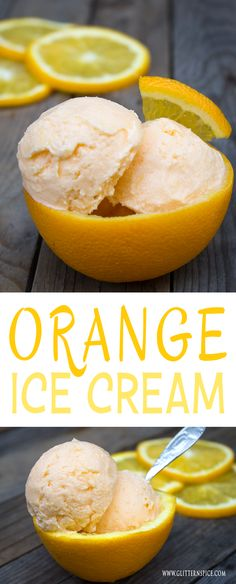 http://www.pinterhome.com/category/Ice-Cream-Maker/ Homemade Orange Ice Cream
