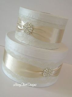 Lace Wedding Card Box - Couture Card Holder