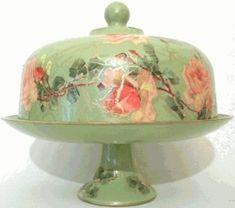 vintage cake platters - Google Search