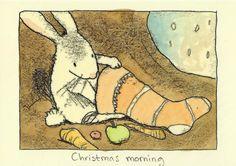 """Christmas morning"" ~ Anita Jeram ~"