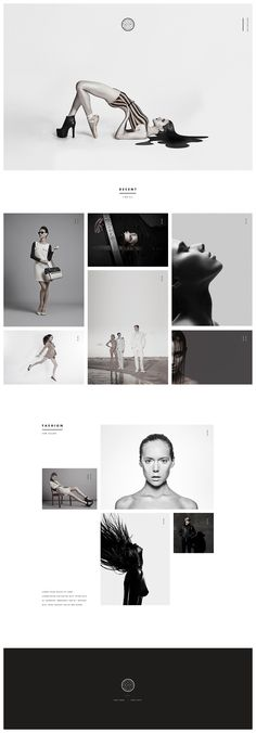 Nice minimalist portfolio design. #black and #white #photography