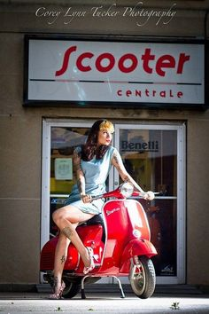 Red vespa girl scooters with photos 173 - #Girl #Photos #Red #scooters #Vespa