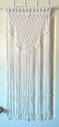 Hey, I found this really awesome Etsy listing at https://www.etsy.com/listing/222928909/macrame-wall-hanging