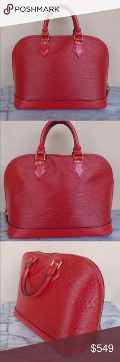 b60abbeb7b See more. ❤ Louis Vuitton red epi alma ❤ Omg ...gorgeous red epi